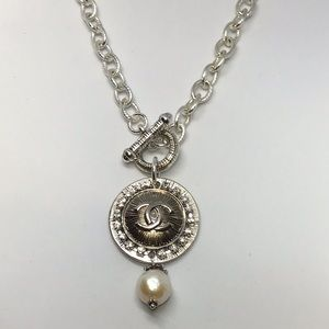 Beautiful Designer Button necklace.